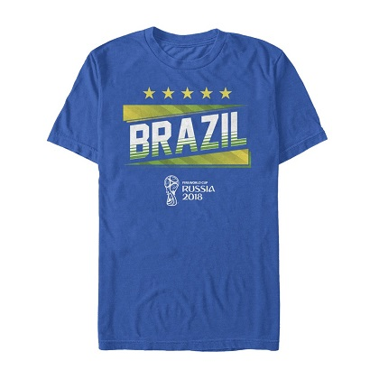 World Cup Russia 2018 Brasil Blue Tshirt
