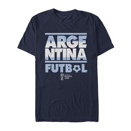 World Cup Russia 2018 Argentina Navy Blue Tshirt