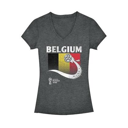 World Cup 2018 Belgium Women's Vneck Tshirt