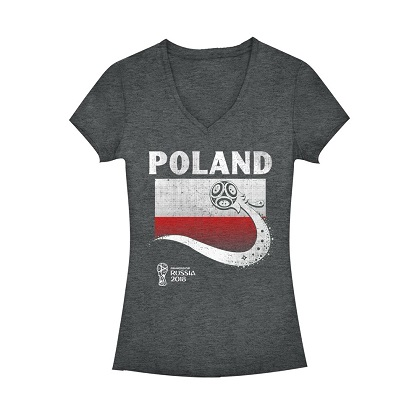 World Cup 2018 Poland Women's Vneck Tshirt