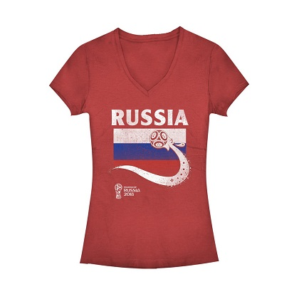 World Cup 2018 Russia Women's Vneck Tshirt