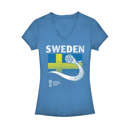 World Cup 2018 Sweden Women's Vneck Tshirt