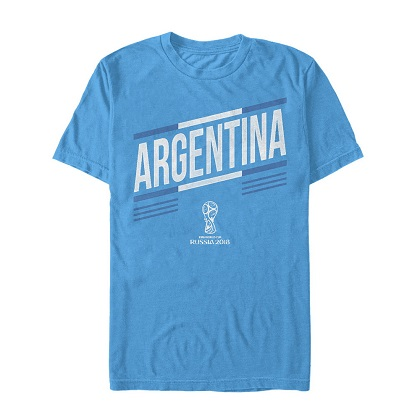 World Cup 2018 Argentina Bright Blue Tshirt