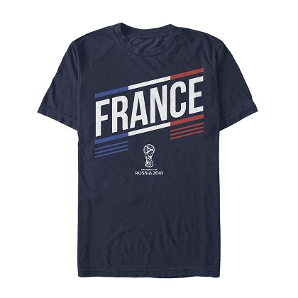 World Cup Russia 2018 France Navy Blue Tshirt