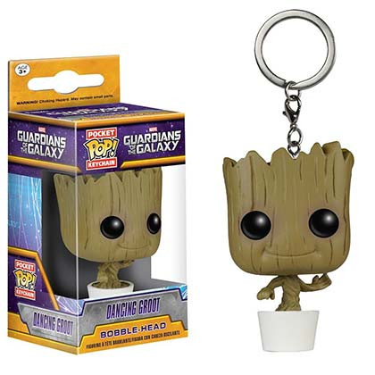 Guardians Of The Galaxy Funko Toy Dancing Groot Keychain