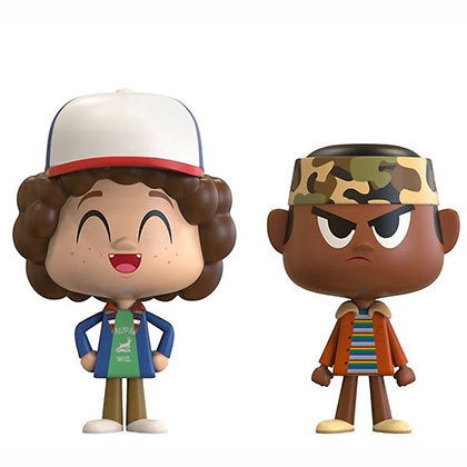 Stranger Things Dustin And Lucas Funko Pop Vynl Figure Set