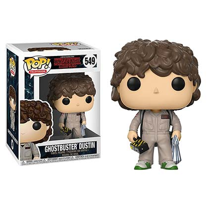 Stranger Things Ghostbuster Dustin Funko Pop Vinyl Figure
