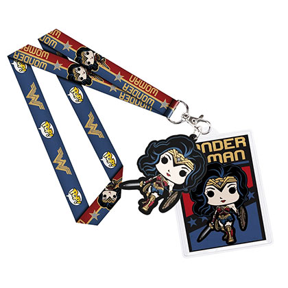 Wonder Woman Card Holder Funko Pop Lanyard
