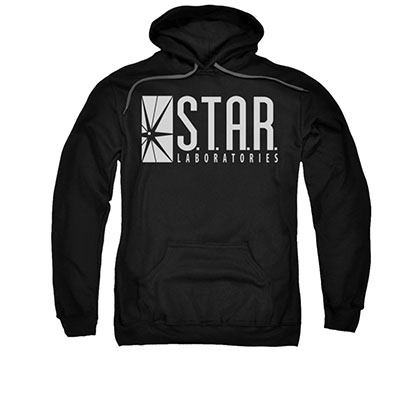 The Flash STAR Black Pullover Hoodie