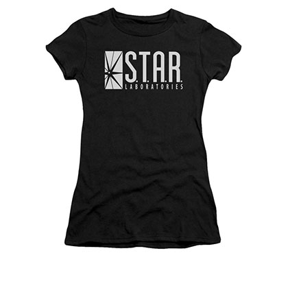 The Flash STAR Black Juniors T-Shirt