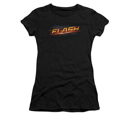 The Flash Logo Black Juniors T-Shirt