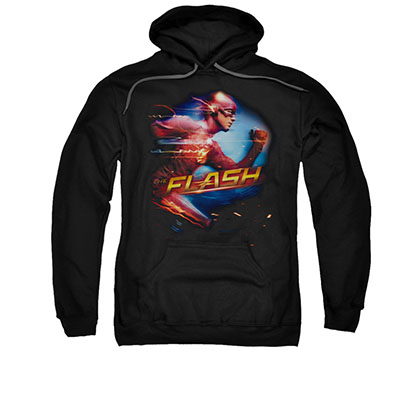 The Flash Fastest Man Black Pullover Hoodie