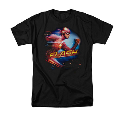 The Flash Fastest Man Black T-Shirt