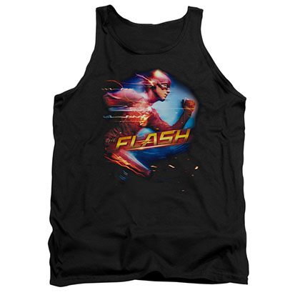 The Flash Fastest Man Black Tank Top