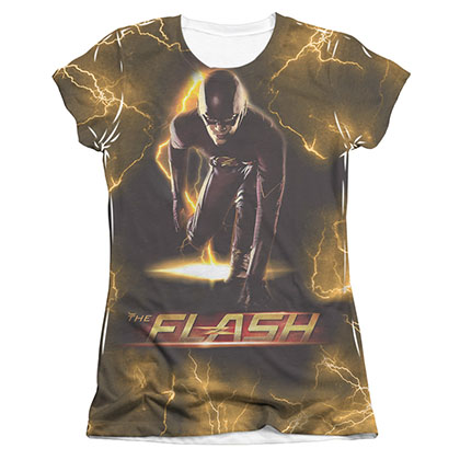 The Flash Bolt Sublimation Juniors T-Shirt