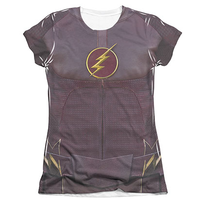 The Flash Uniform Costume Sublimation Juniors T-Shirt