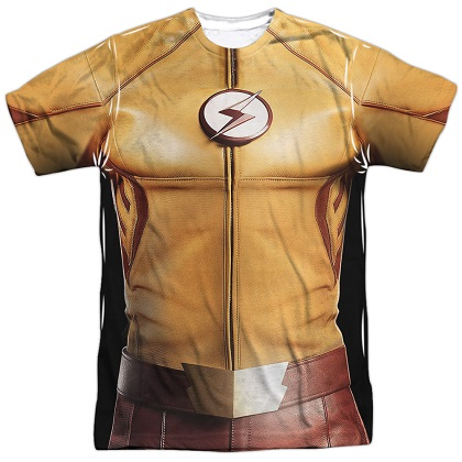The Flash Justice League Yellow Costume Tee