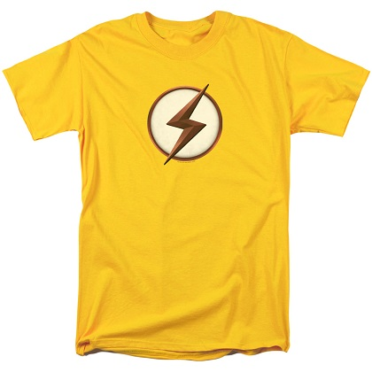 The Flash Kid Flash Logo Yellow Tshirt