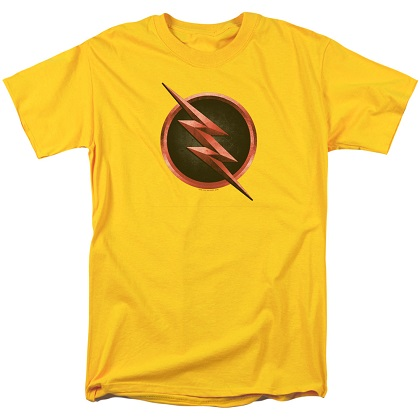 The Flash Reverse Flash Logo Yellow Tshirt