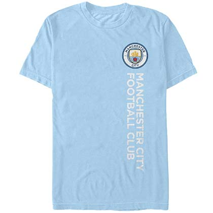 Manchester City Vertical Type Soccer Blue T-Shirt