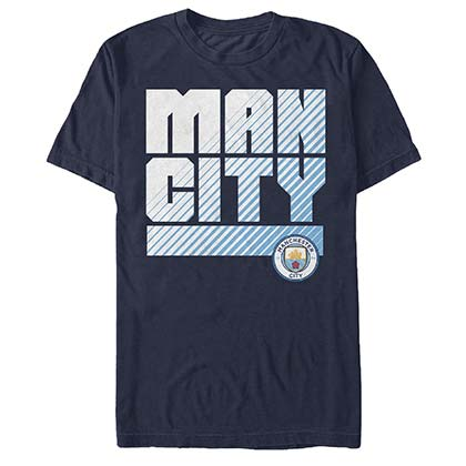 Manchester City Man Logo Soccer Blue T-Shirt