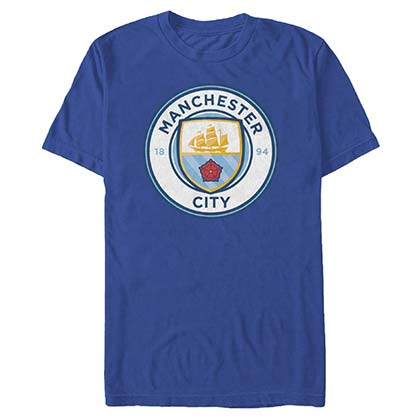 Manchester City Logo Soccer Blue T-Shirt
