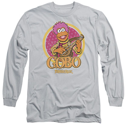 Fraggle Rock Gobo Circle Gray Long Sleeve T-Shirt