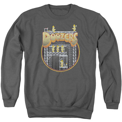 Fraggle Rock Doozers Construction Gray Crew Neck Sweatshirt