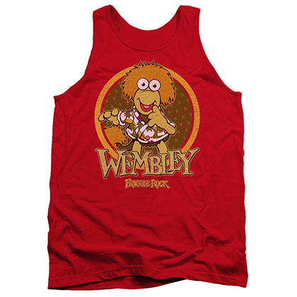 Fraggle Rock Wembley Circle Red Tank Top