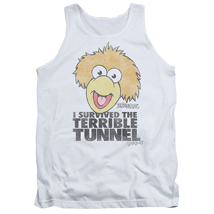 Fraggle Rock Terrible Tunnel White Tank Top