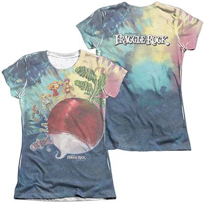 Fraggle Rock Giant Radish White 2-Sided Juniors Sublimation T-Shirt