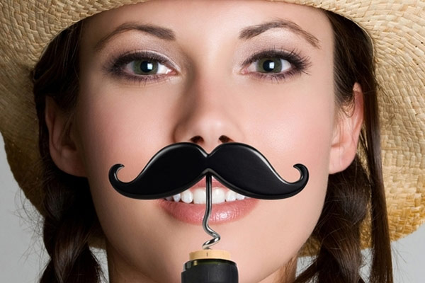 The Handlebar Mustache Corkscrew & Beer Bottle Opener
