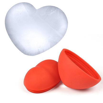 Heart FRED 3D Silicone Ice Cube Ball Mold