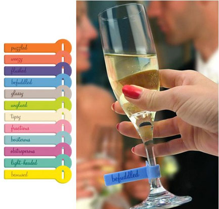 Wine Lines Party ID Tags