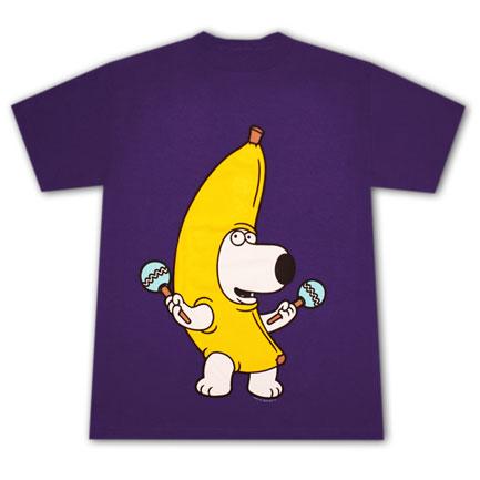 Family Guy Brian Banana T Shirt - Purple