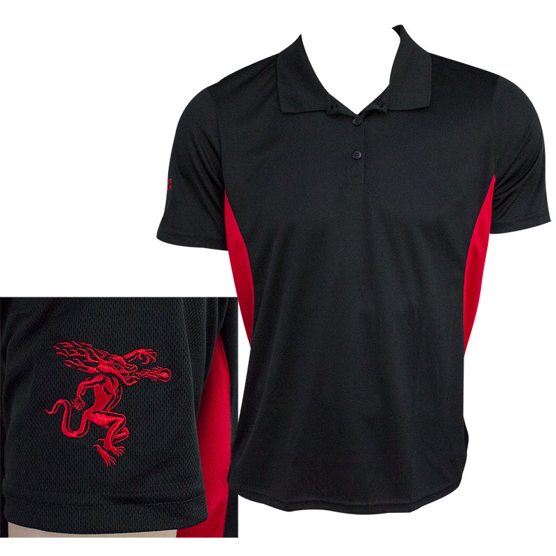 Fireball Whisky Black Red Men's Golf Polo Shirt