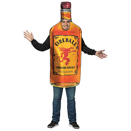 Fireball Bottle Halloween Costume