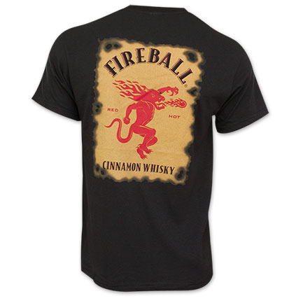 Fireball Men's Whiskey Label Tee Shirt