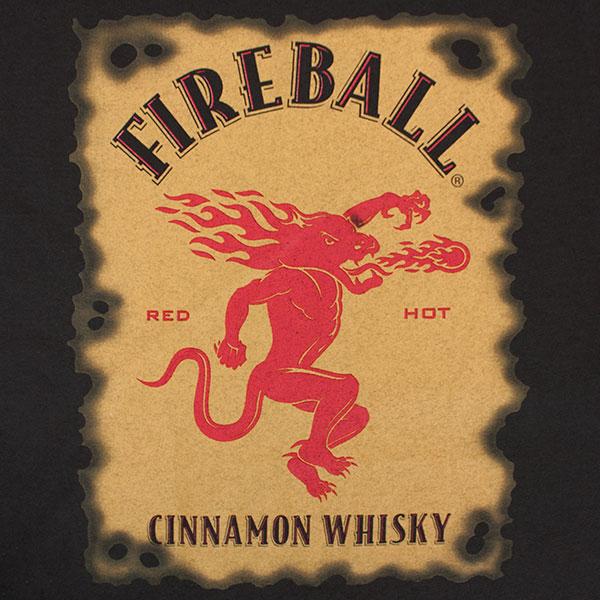 Fireball Cinnamon Whiskey Bottle Label T Shirt
