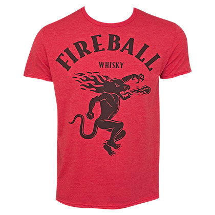 Fireball Men's Red Large Dragon Logo T-Shirt