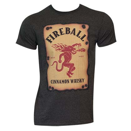Men's Fireball Label Black Tee Shirt