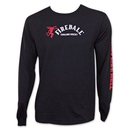 Fireball Cinnamon Whiskey Tastes Like Heaven Long Sleeve T-Shirt