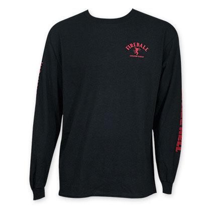 Fireball Men's Black Long Sleeve Shirt
