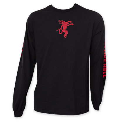 Fireball Cinnamon Whiskey Black Long Sleeve Red Logo Shirt