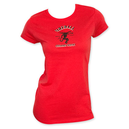 Fireball Logo Red Women's Tee Shirt