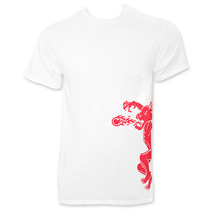 Fireball Cinnamon Whiskey White Dragon Tee Shirt