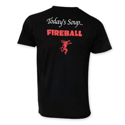 Fireball Men's Black Today's Soup Tee Shirt