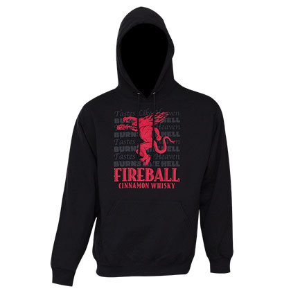 Fireball Men's Black Tastes Like Heaven Hoodie