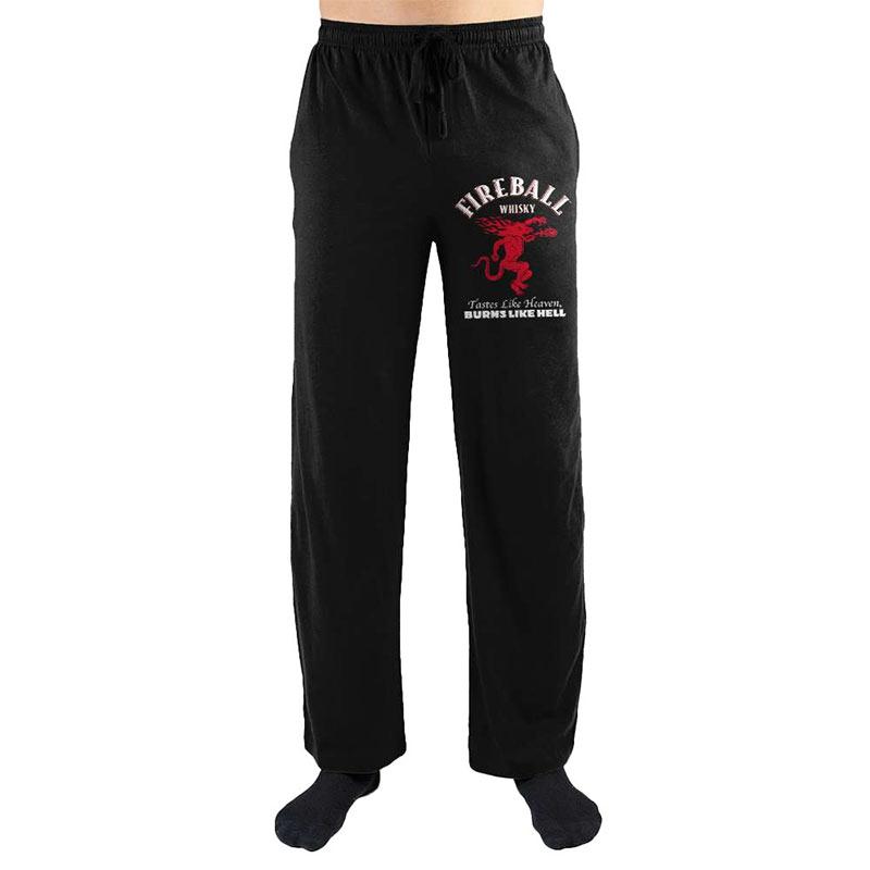 Fireball Black Men's Pajama Pants