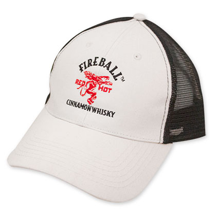 Fireball White And Black Trucker Hat